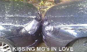 MG ZS and MG ZT KISSING