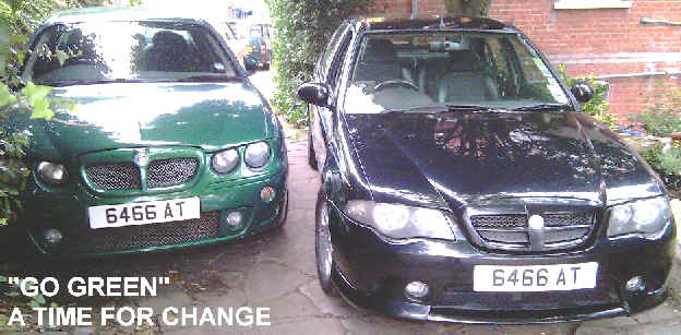 "MG ZT ""TIME FOR CHANGE"" - GO GREEN"